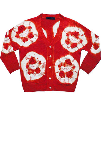 Charlotte Cardigan 3/4 Sleeve (Double Flower Shibori)