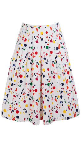 Zelda Skirt Cotton Stretch (Color Drip Small)