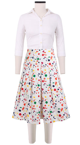 Donna Skirt Cotton Stretch (Color Drip Small)