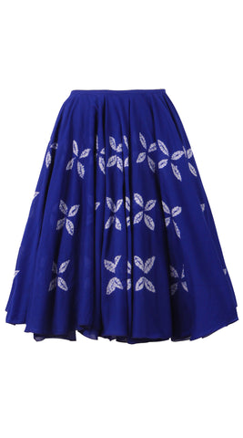 Aster Skirt Cotton Musola Hand Shibori (Cross Lips)