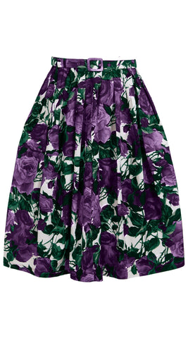 Claire Skirt Cotton Stretch (Damask Rose)
