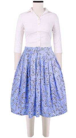 Claire Skirt Cotton Stretch (Damier Pastel)