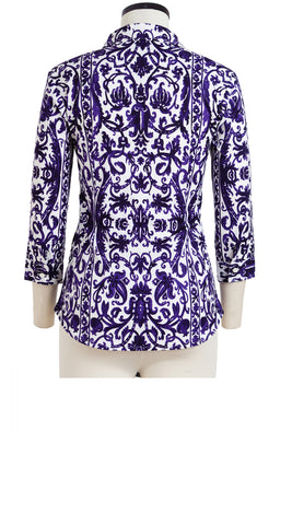 Katharine Shirt 3/4 Sleeve Cotton Stretch (Dauphine)