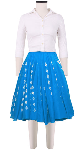 Aster Skirt Cotton Musola Hand Shibori (Crystal Shibori)