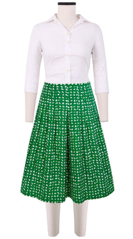 Zelda Skirt Cotton Stretch (Dogstooth)