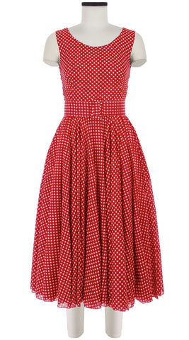 Aster Dress Boat Neck Mini Cap Sleeve Midi Length Cotton Musola (Dorothy Gingham Bright)