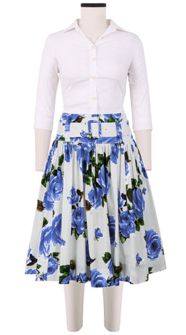 Gilda Skirt Cotton Stretch (Eden Rose White)