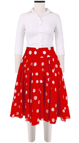 Aster Skirt Midi Cotton Musola (Fellini Dots)