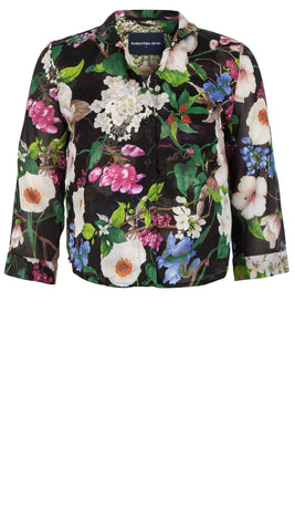 Ann Shirt 3/4 Sleeve Cotton Musola (Florentine Flowers)