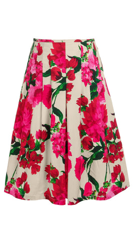 Zelda Skirt Cotton Stretch (Geranium Ground)