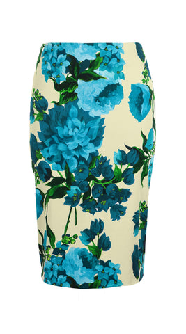 Chloe Skirt Cotton Dobby Stretch (Geranium Ground)