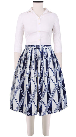 Claire Skirt Cotton Stretch (Hampton Check)