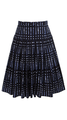 Milla Skirt Cotton Stretch (Knot Shibori Bright)
