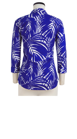 Katharine Shirt 3/4 Sleeve Cotton Stretch (Maui Palm)