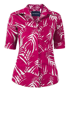 Katharine Shirt 1/2 Sleeve Cotton Stretch (Maui Palm)