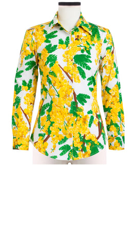 Katharine Shirt 3/4 Sleeve Cotton Stretch (Mimosa)