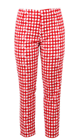 Capri Pants Long Cotton Stretch (Mini Pop Clover)