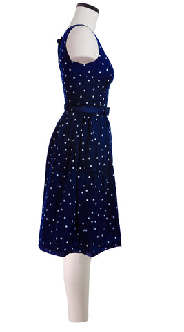 Rachel Dress Boat Neck Sleeveless Cotton Stretch (Mini Star)