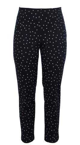 Capri Pants Long Cotton Dobby Stretch (Mini Star Small)