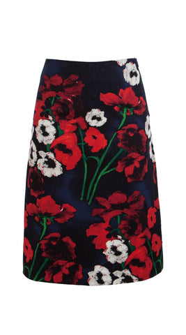 Donnaway Skirt Cotton Dobby Stretch (Poppy New)
