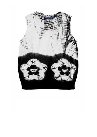 Charlotte Pullover Sleeveless  (Double Flower Shibori Border)
