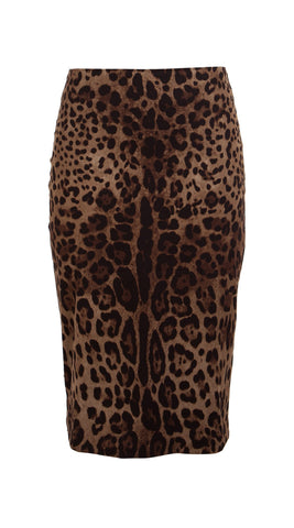 Chloe Skirt Cotton Dobby Stretch (Safari Leopard)