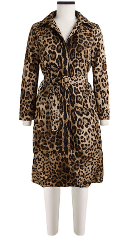Parisienne Coat Long Sleeve Silk Poly (Safari Leopard)