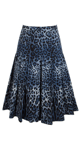 Zeller Skirt Cotton Stretch (Safari Leopard Mini Dark)