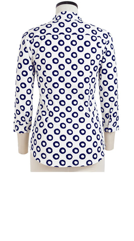 Katharine Shirt 3/4 Sleeve Cotton Stretch (Micro Dots)