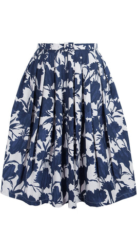 Claire Skirt Cotton Stretch (Tropical Flower)