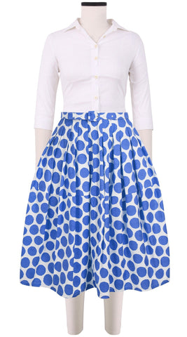 Claire Skirt Cotton Stretch (Warhol Dots Bright)