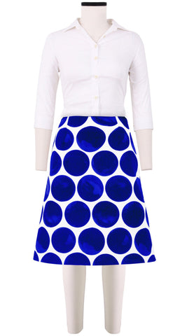 Donnaway Skirt Cotton Double Twill (Whitney Dots)