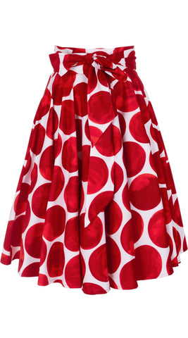 April Skirt Cotton Stretch (Whitney Dots)