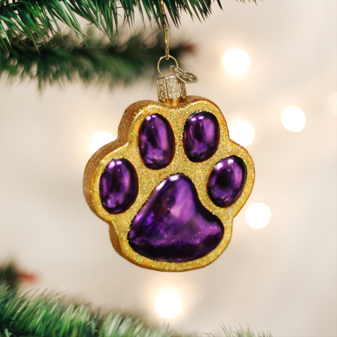 Old World Christmas Paw Print
