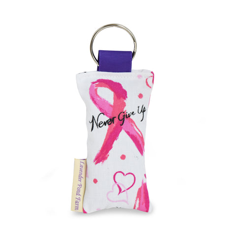 Breast Cancer Lavender Sachet Key Chain