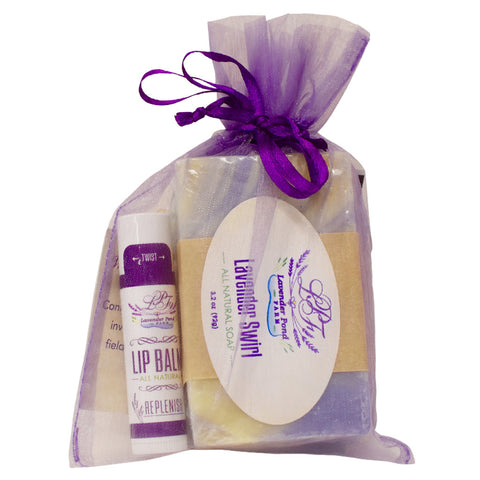 Organza Lavender Soap Gift Bag