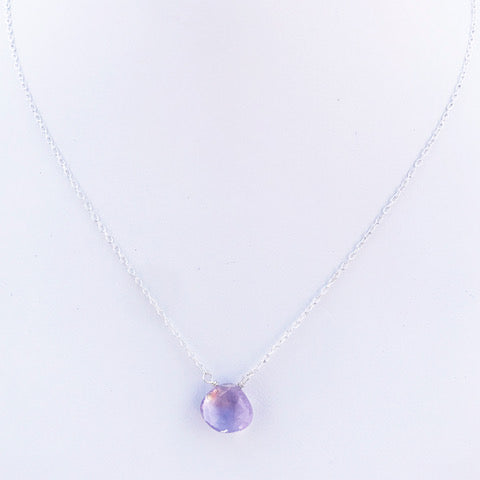 Lavender Heart Necklace by Susan Roberts