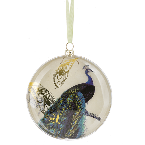 Peacock Disk Ornament