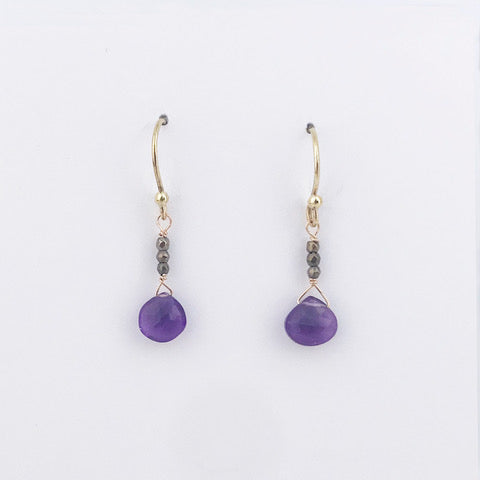 Raindrop Amethyst Earrings by Susan Roberts