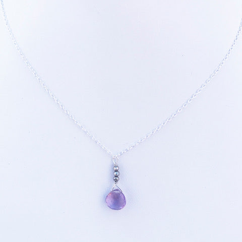 Raindrop Amethyst Necklace By Susan Roberts