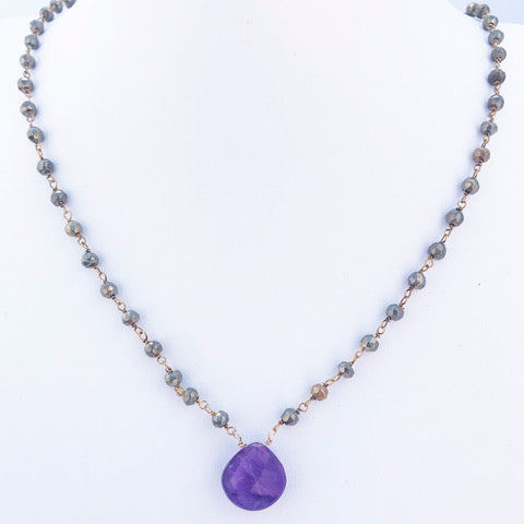Lavender Waterfall Necklace by Susan Roberts