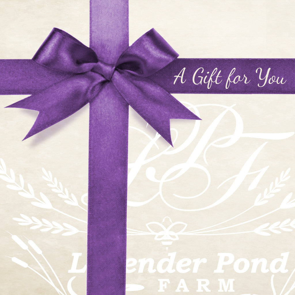 Gift card lavender pond farm gift card 1betcityfo Images