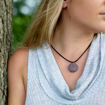 Leather Diffuser Necklace by Susan Roberts