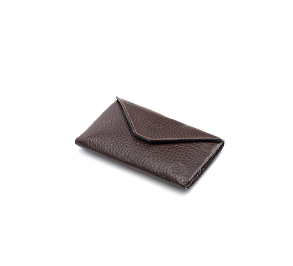 Business Card Case - Envelope Design - Brown & Caramel
