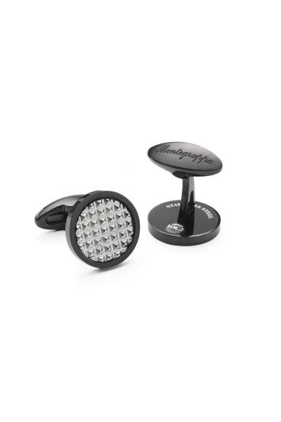 Clou Cufflinks, IP Black & Steel