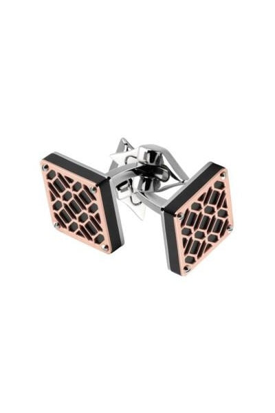 Filigree Square Cufflinks, Rose Gold PVD