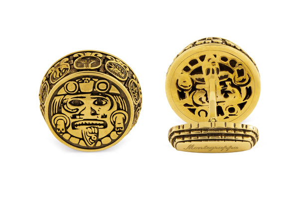 Mexican Cufflinks, Gold