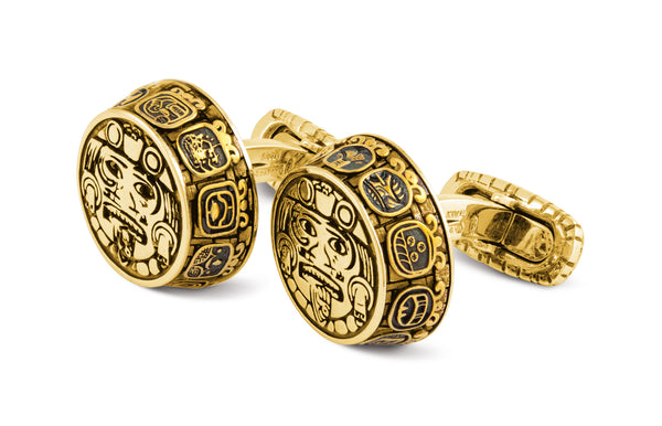 Mexican Cufflinks, Bronze