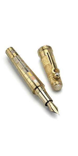 The Alchemist Fountain Pen - Gold & Diamond