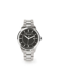 Fortuna Three Hands Watch - Stainless Steel & Black Dial